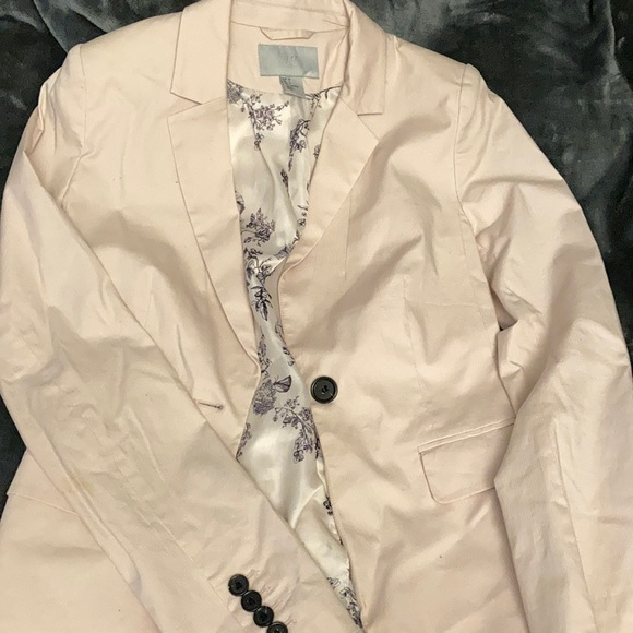 H&M blush pink blazer / suit jacket